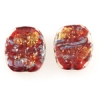 Lamp Bead Rugged Flat Coin 2Pc 22x19mm Valentine Red